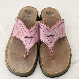 Dr. Marten Vintage Leather Flip Flops